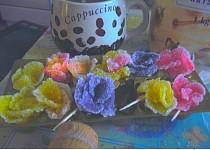 Květinky z cukríkov