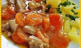 Marinované vepřové s mrkví