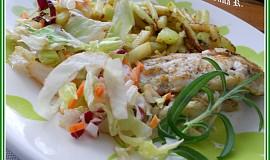 Mořská štika s kedlubnovými hranolky