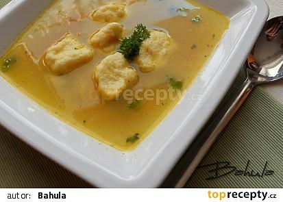 Rychlá polévka s krupicovými nočky od M.D.Rettigové