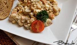 Salát z kuřecích jater