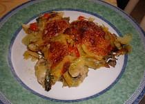 Smetanové brambory s rukolou