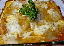 Domácí celozrnné lasagne zapečené s kuřecím masem
