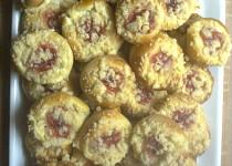 Hanácké koláčky s tvarohem a marmeládou