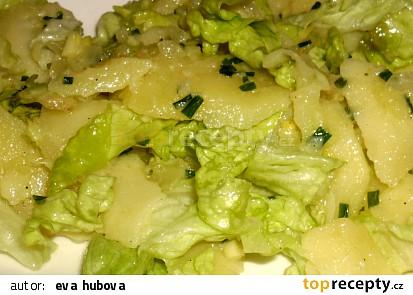 Hlávkový salát s bramborami