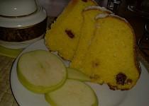 Jablíčkovo-brusinkovo-kokosová bábovka