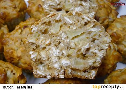 Light muffiny s ovesnými vločkami, jablkem, medem a bez tuku