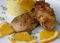 Marinovaná pomerančová kuřecí prsa