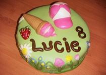Piškotový dort pro dceru