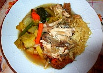 Poulet au pot (Kuře v hrnci)
