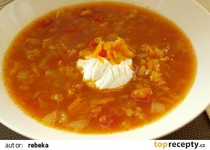 Anglická polévka z červené čočky