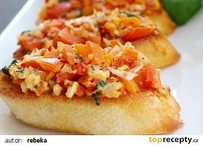Bruschetta s rajčaty