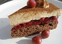 Cappuccinový dort s třešněmi
