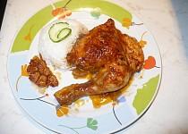 Marinované kuře s pečeným česnekem