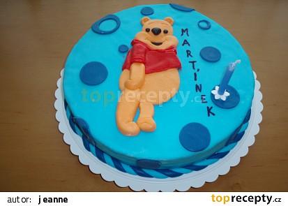 Narozeninový dort medvídek Pú