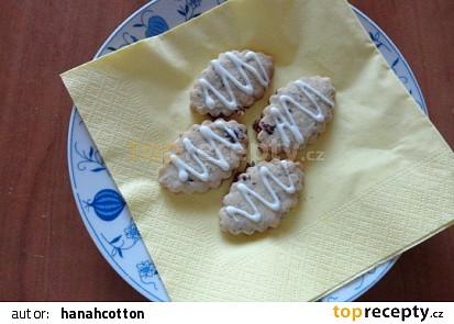 Ořechovo - brusinkové keksy