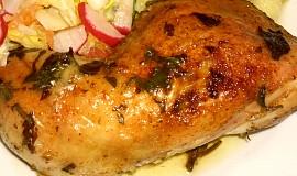 Pečené kuře s libečkem