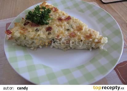 Rýžový koláč s fetou a mozzarellou
