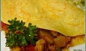 Zeleninové palačinky s kuřecím masem