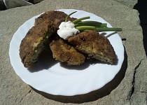 Brokolicovo-celerové placky s jarní cibulkou a rýží