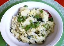 Bylinkovo-česneková bramborová kaše