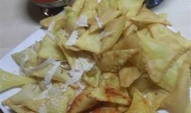 Domácí nachos-kukuřičné chipsy