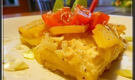 Hermelínové brambory se sýrovou zálivkou