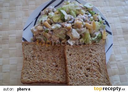 Ledový salát s tuňákem a mangem