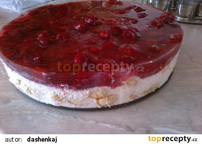 Malinovo piškotový dortík
