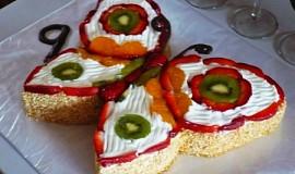 Ovocný dort motýl