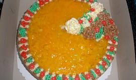 Ovocný dort s růžičkama