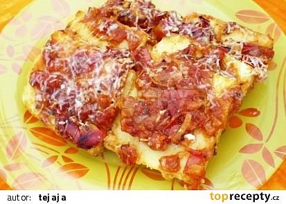 Polenta zapečená s rajčatovou omáčkou
