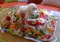 Slaný dort s boloňským psíkem