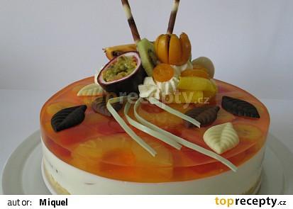 Jogurtový dort (s exotickým ovocem)