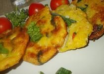 Křehké chřestovo - špenátové placičky