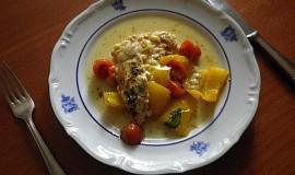 Kuřecí maso s rajčátky a meruňkami