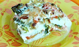 Zapečené kedlubny s pórkem a mozzarellou