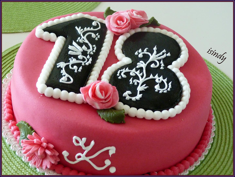 narozeninové dorty k 18 narozeninám Dort 18.narozeniny recept   TopRecepty.cz narozeninové dorty k 18 narozeninám