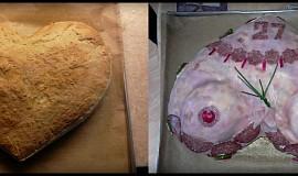 Chlebový dort - prsa