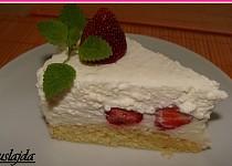 Jahodovo - kokosový dort