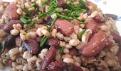 Kroupy s fazolemi na slanině nebo špeku :)))