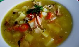 Kuřecí uzená polévka s bramborem