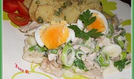 Letní kuřecí salát s brambory