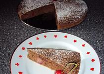 Perníkový koláč s třešněmi