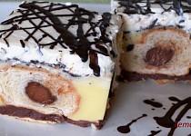 Pudinkový koláč z croissantů