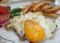 Rybí omeleta s Hermelínem