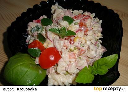 Sýrový salát s těstovinovou rýží