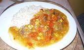 Vepřový plátek na zelenině