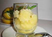 Citronový sorbet z domácího zmrzlinovače
