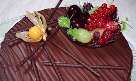 Čokoládový dort z čokolády